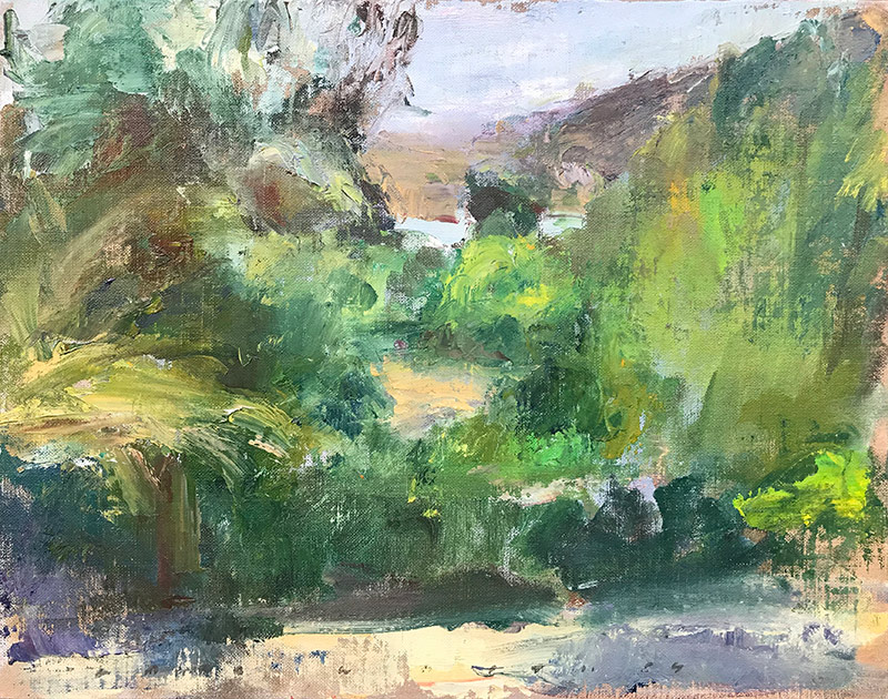 Marc Whitney fine art oil painting Lake Hodges