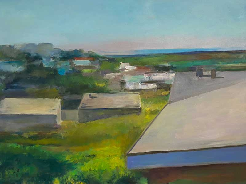 Roof Tops oil painting by Marc Whitney