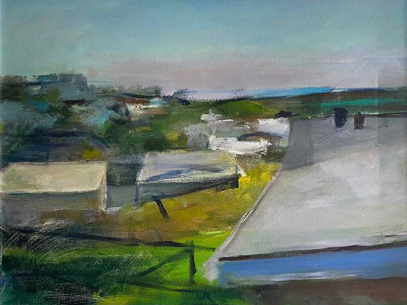 Roof Tops Sketch oil painting by Marc Whitney