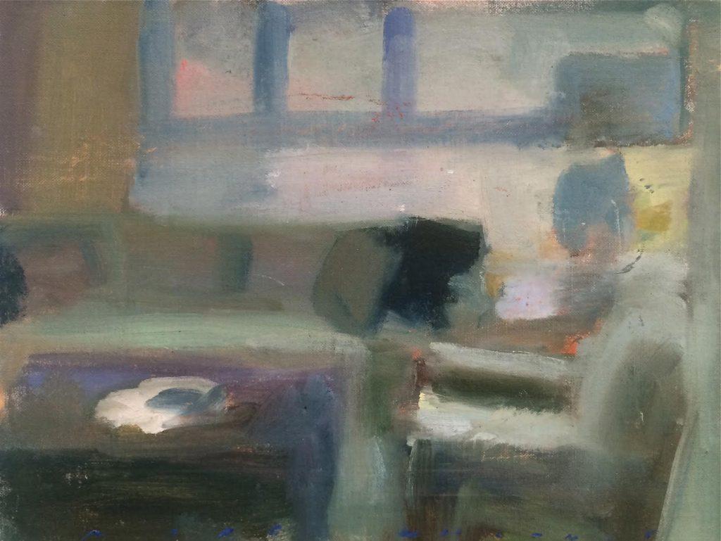 Marc Whitney oil painting San Fran Interior