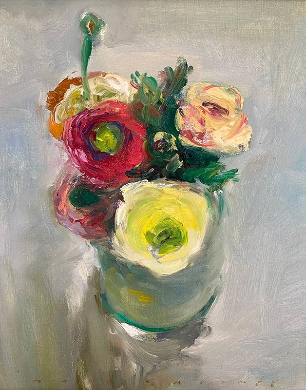 Assorted Ranunculus oil painting by Marc Whitney