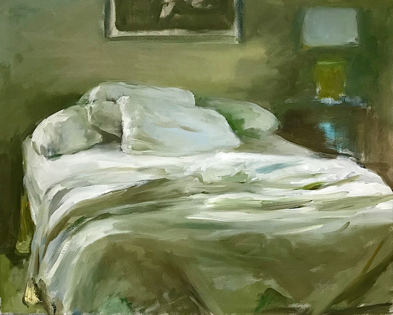 Comfort original oil by artist Marc Whitney