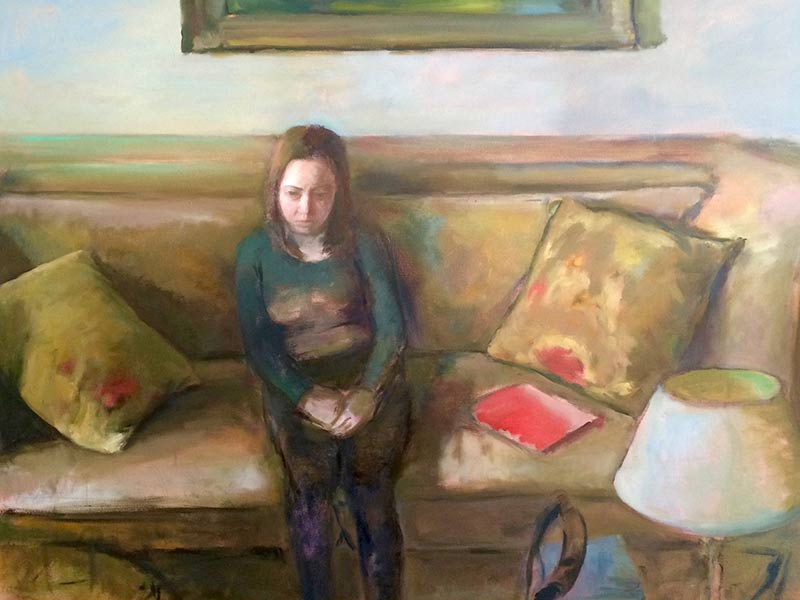 Marc Whitney oil painting Couch
