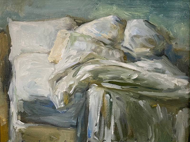 Messy Bed oil painting by Marc Whitney