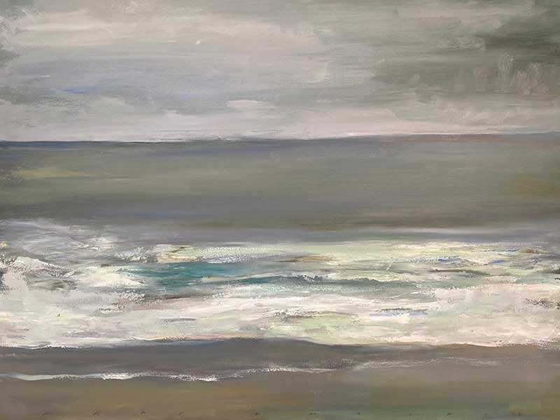 Rain in Leucadia oil by Marc Whitney