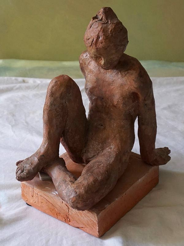 Marc Whitney sculpture Seated Figure