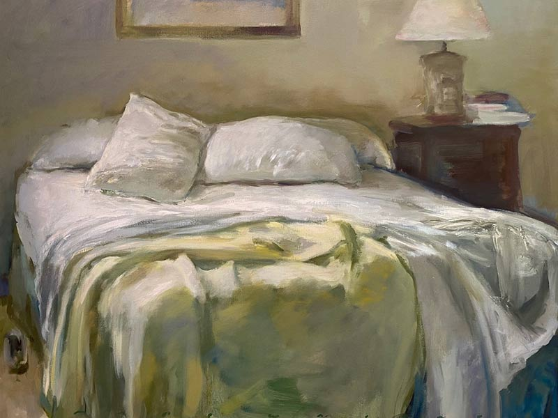 Soft Yellow Blanket oil by Marc Whitney