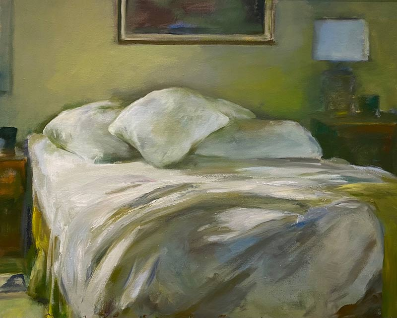 Unmade Bed oil painting by Marc Whitney