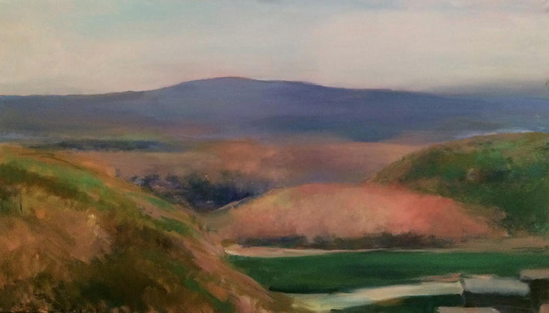 Marc Whitney oil painting Coastal Hills