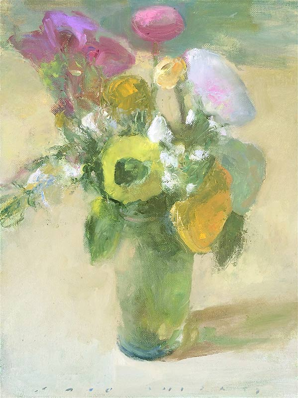 Marc Whitney oil painting Bright Flowers