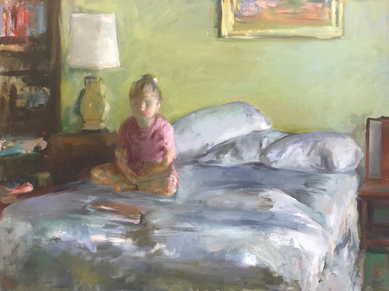 Marc Whitney fine art print Child on Bed