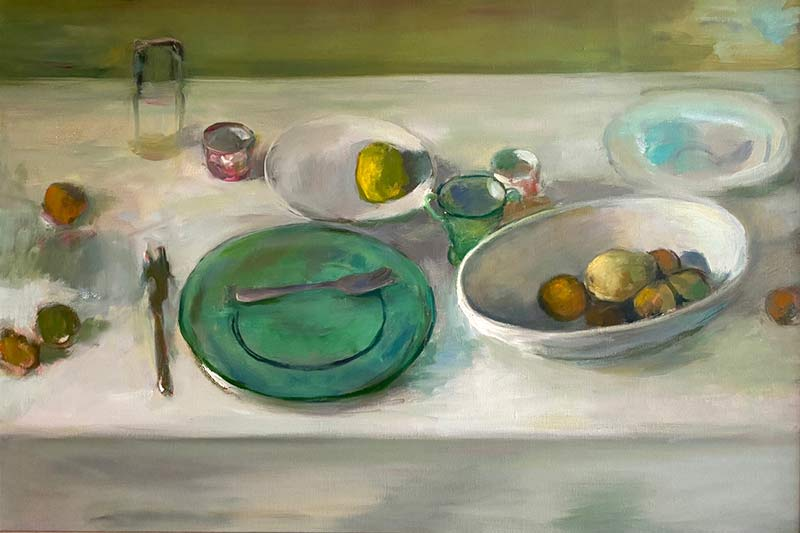Green Glass Plate oil by Marc Whitney