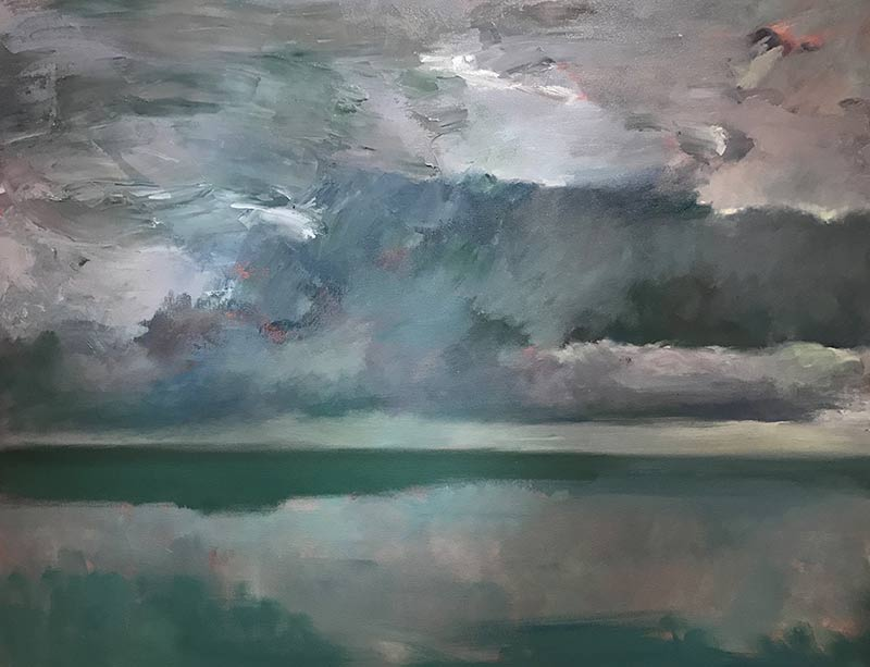 Marc Whitney oil painting Ocean Storm