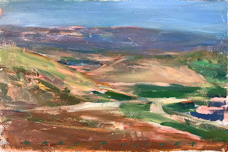 Marc Whitney oil painting Looking Southeast