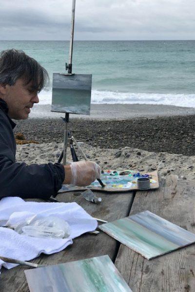 Marc Whitney painting ocean